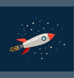 rocket space ship cartoon spaceship spacecraft vector image