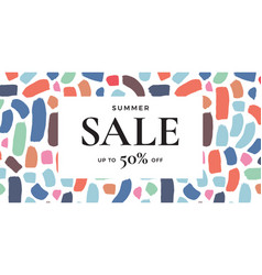 Sale banner design vector