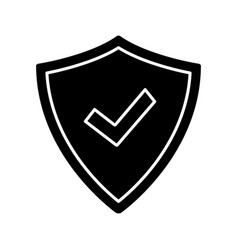 security approved glyph icon vector image