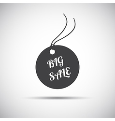 Simple big sale label icon vector