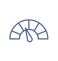 Simple speedometer icon in line art style meter vector