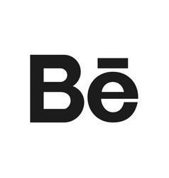 Social media symbol behance vector