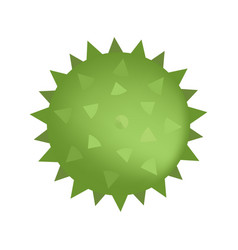 Spiked sensory ball green color isolated on vector