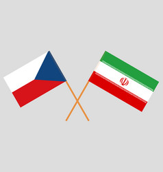 The iranian and czech flags vector