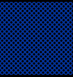 Tile pattern with black polka dots on navy blue vector