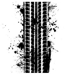 Tire track with blots vector