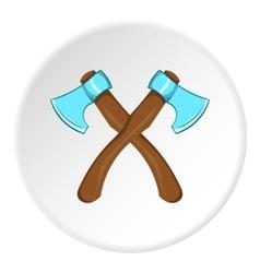 Two axes icon cartoon style vector