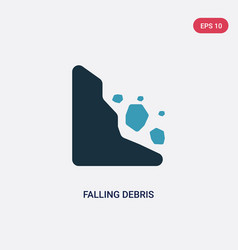 Two color falling debris icon from nature concept vector
