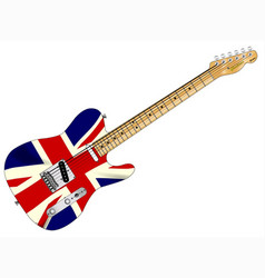 Union jack slab guitar vector