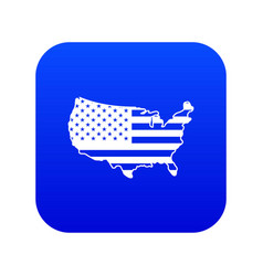 usa map icon digital blue vector image