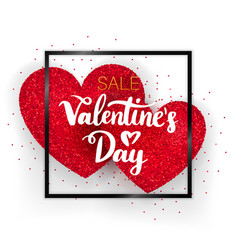 Valentines day sale concept vector