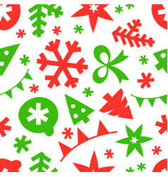 winter season holidays seamless pattern background vector image