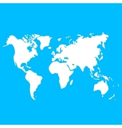 World map on blue background for design vector
