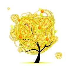 yellow tree vector image vector image