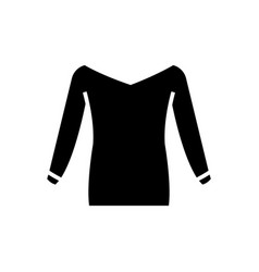 blouse icon black sign on vector image vector image