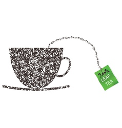 Cup made from tea leaf vector image
