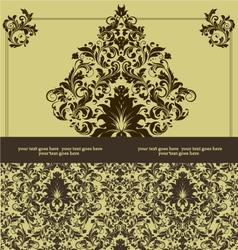 damask invitation floral card vector image vector image