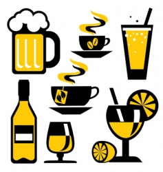icons drink vector image vector image