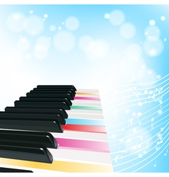 piano musical background vector image