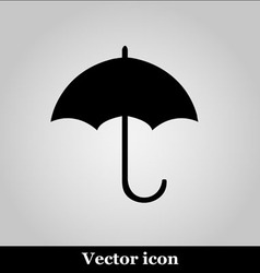 Umbrella black modern web design icon vector image vector image