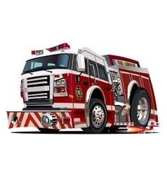 cartoon firetruck vector image vector image