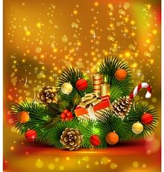 Christmas still life vector image vector image