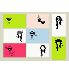 fashion cards vector image