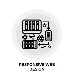Responsive Web Design Line Icon vector image vector image