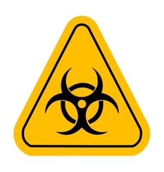 Warning icon in yellow triangle Biohazard toxic vector image