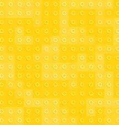 Yellow constructor blocks seamless pattern vector image vector image