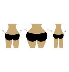 Bikini bottom for your design view back vector image