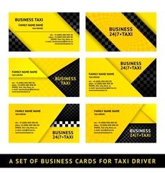 Business card taxi - ninth set vector image