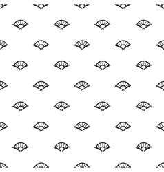 Fan pattern simple style vector image