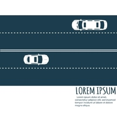 Highway traffic Minimalistic banner vector image vector image