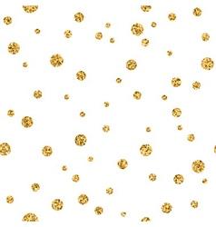Polka dot gold white 3 haotic vector image