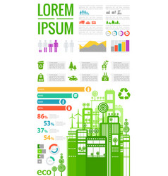 abstract cityscapes infographics town city vector image