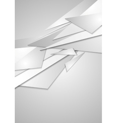 Abstract grey geometric corporate background vector