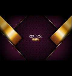 Abstract luxurious dark purple with golden lines vector