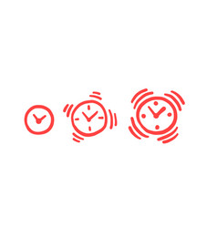 alarm-clock louder deadline time is over alarm vector image