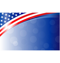 American flag background frame banner vector