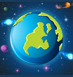 An earth in space vector