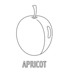 Apricot icon outline style vector