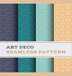 art deco seamless pattern 46 vector image