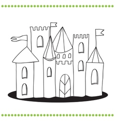 Art of a Castle vector image