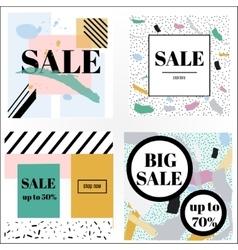 Artistic trendy memphis sale banners vector image
