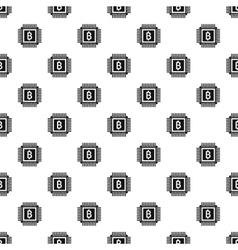 Bitcoin pattern simple style vector image