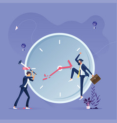 business group trying to stop time vector image