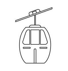 cable car transport image vector image