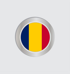 Chad flag in official colors embed map vector