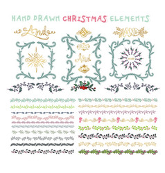 collection of colorful hand drawn decorative vector image